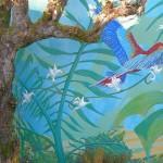 Fresque Jungle. Particulier. 10m * 1,60m. Septembre 2009