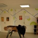 exemple de motifs crées et peints par les participants, acrylique,2009